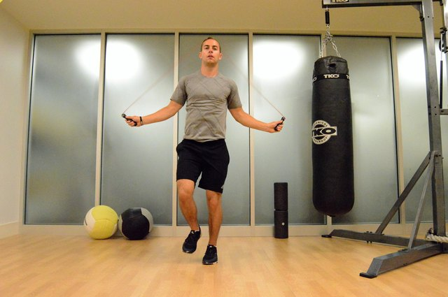 Jumping rope burns major calories.