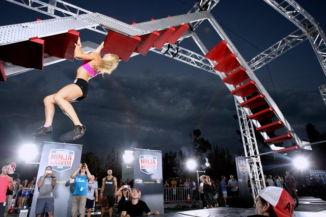 Jessie Graff conquers the obstacle known as the devil stairs during the season seven finale.