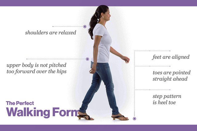 You won't be wearing heels to walk to work, but you can still have proper posture.