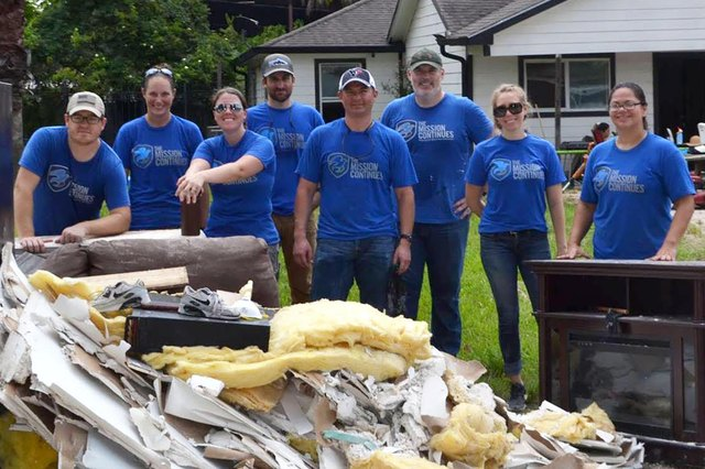 The Mission Continues platoons in Miami, Orlando, Tampa and Jacksonville rallied together to help neighbors and community members recover from Hurricane Irma.