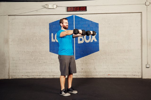 Here's how to do a front arm raise.
