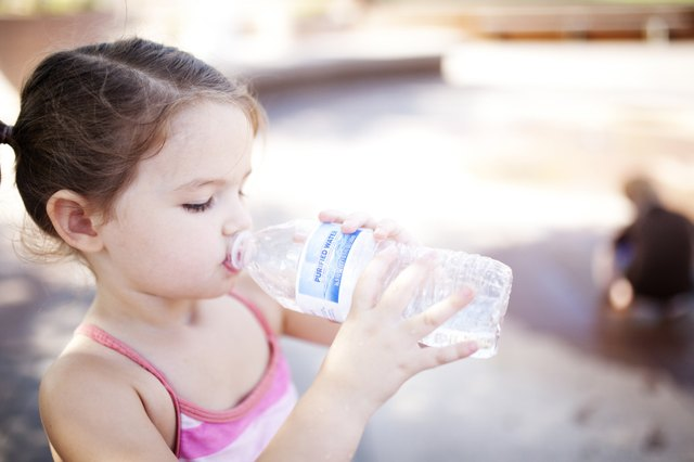 Give your kids water instead of sweet drinks to establish healthy habits.