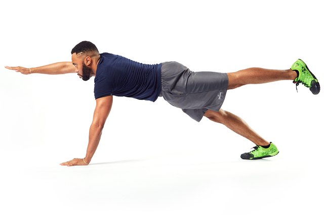If you've mastered the plank, try this variation.