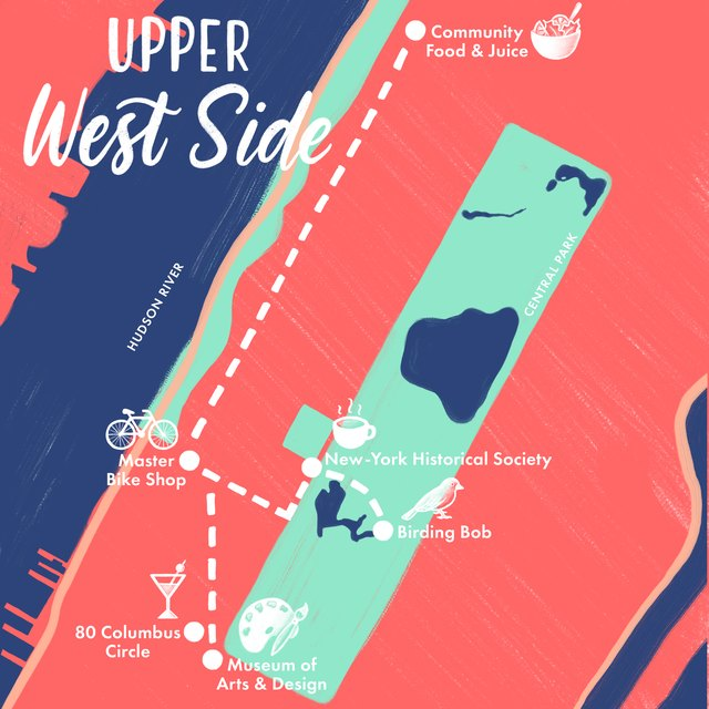 Upper West Side map