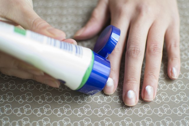 Apply A Tiny Dot Of Cuticle Cream To The Base Each Your Fingernails Massage Over Cuticles And Extend It All Way Around Side