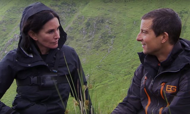 Cox opens up to host Bear Grylls.