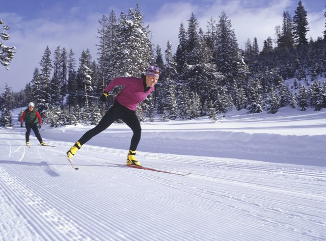 You can burn almost 300 calories in 30 minutes cross-country skiing.