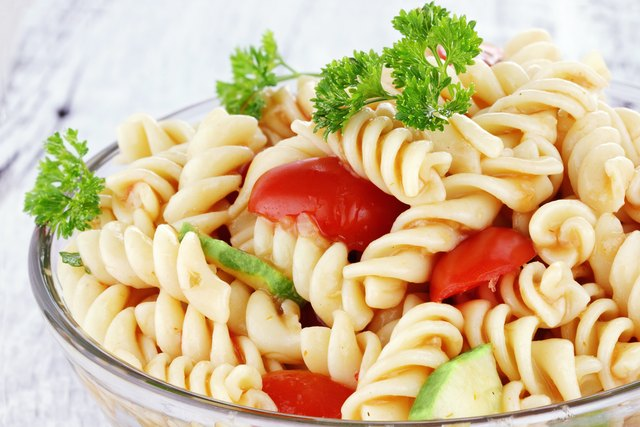 Just take a spoonful of pre-made salads, such as pasta, potato or tabouli salad.