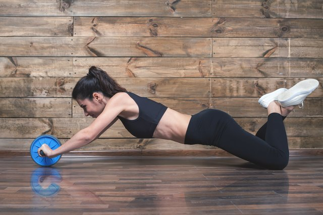 Ab rollers activate the external obliques.