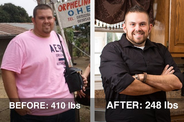 Bobby lost 162 pounds after he and his wife adopted a son.