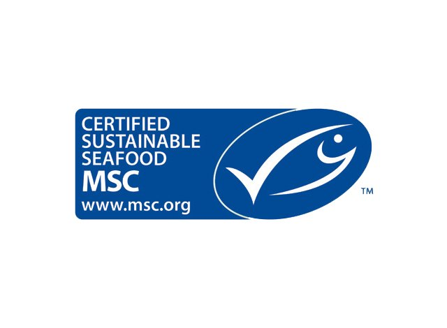 Look for the Marine Stewardship Council logo.