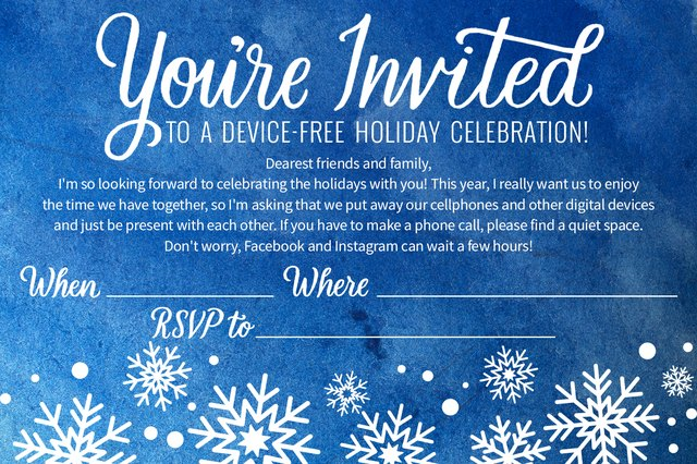 Started planning your holiday get-together? Use this invitation!