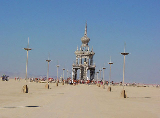 The Temple of Honor at Burning Man 2003, created by David Best.