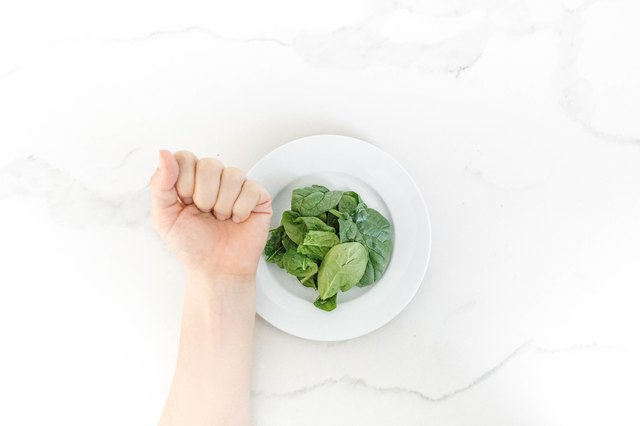Use your closed fist to estimate vegetable servings.