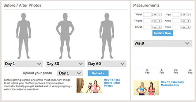 "Upload your ""before"" and ""after"" photos to track your progress more accurately."