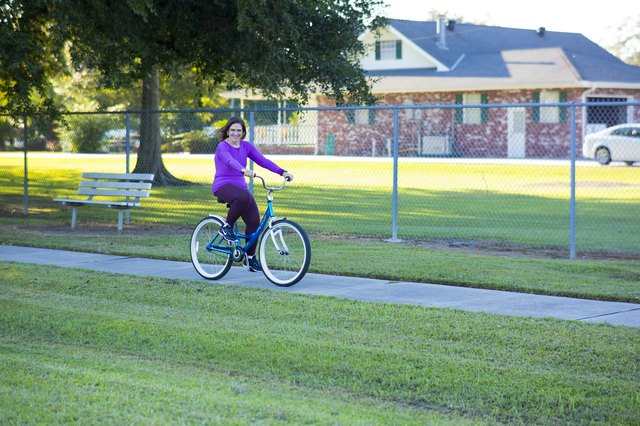 Bike riding is one of Gail's favorite ways to work out.