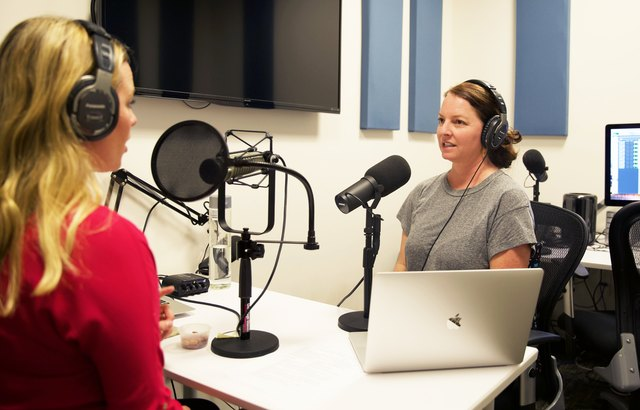 Stop, Breathe & Think founder Jamie Price being interviewed by LIVESTRONG.COM's Michelle Vartan for the Stronger podcast.