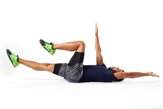 This exercise is also called the dead bug.