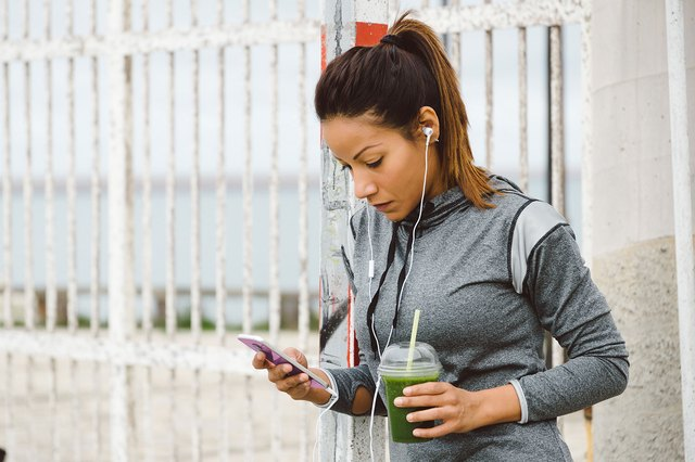 If your workout takes place in the morning, try a small green smoothie beforehand.
