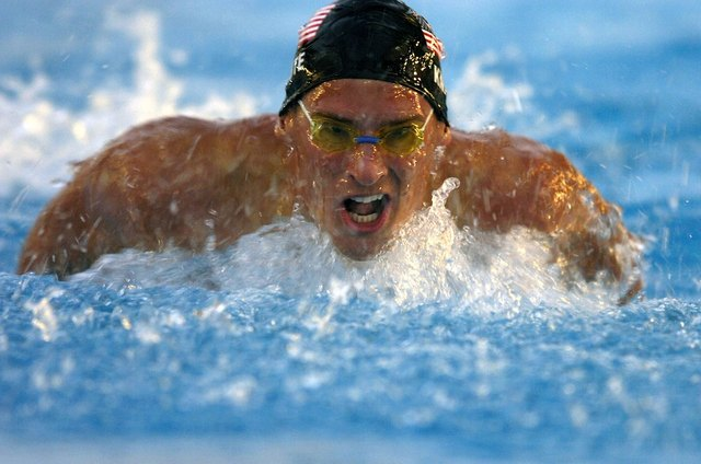 Swimming requires stamina and speed for success.
