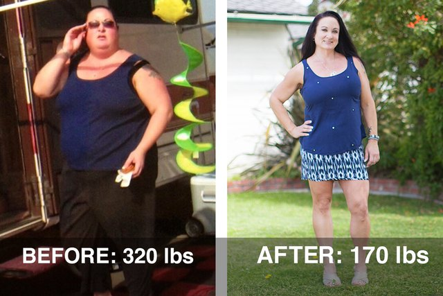 Stacy R. lost 150 pounds using LIVESTRONG.COM and the MyPlate app.
