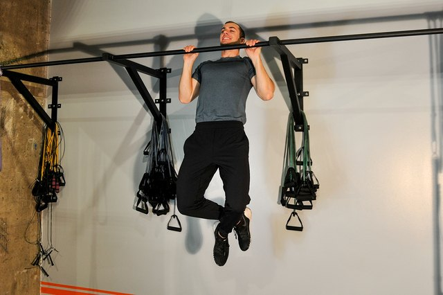 Pull-ups are a killer upper-body exercise.