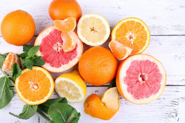 Citrus fruits both wash away dead skin cells and boost new skin cell growth.