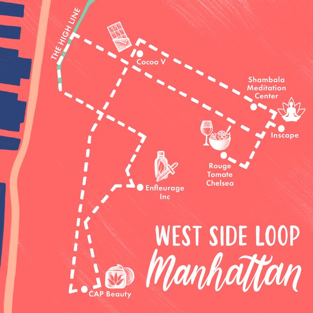 Chelsea/West Side map of New York