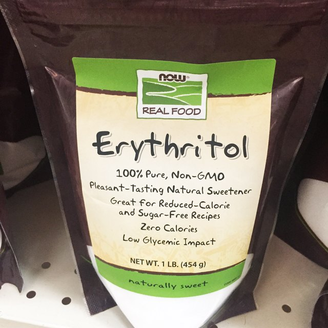 A bag of Erythritol that you can find in stores.