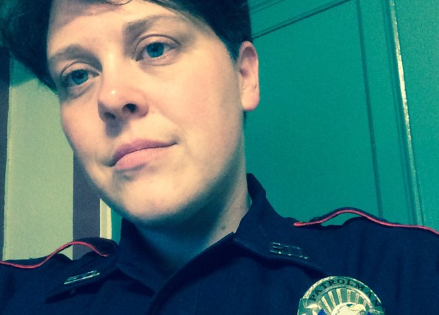 Christi got a job at the police department in a new town after she quit smoking.