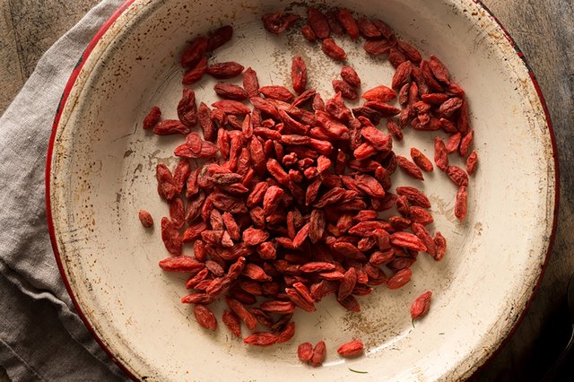 Goji berries, thought to help with neurodegenerative diseases, are delicious with granola, in salads and yogurt or even blended into a smoothie.
