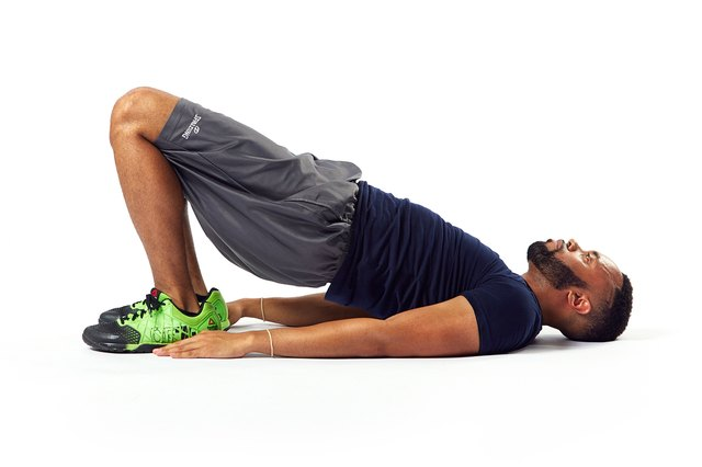 Yes, the glute bridge also targets your core.