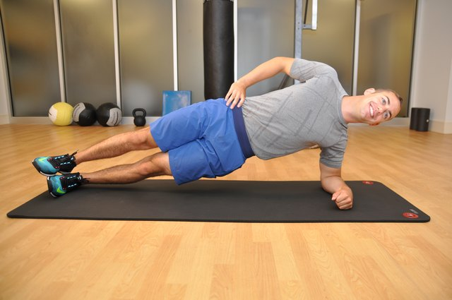 This is the top position of side plank.