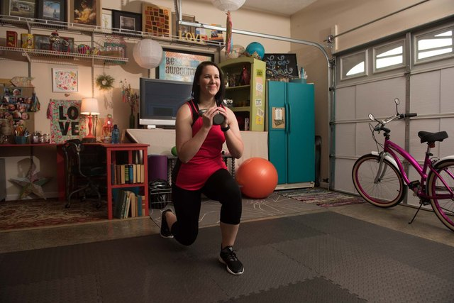 Joining a weight-loss competition inspired Lacey to begin incorporating exercise into her daily routine.