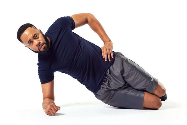 If you're not ready for a full side plank, modify it.