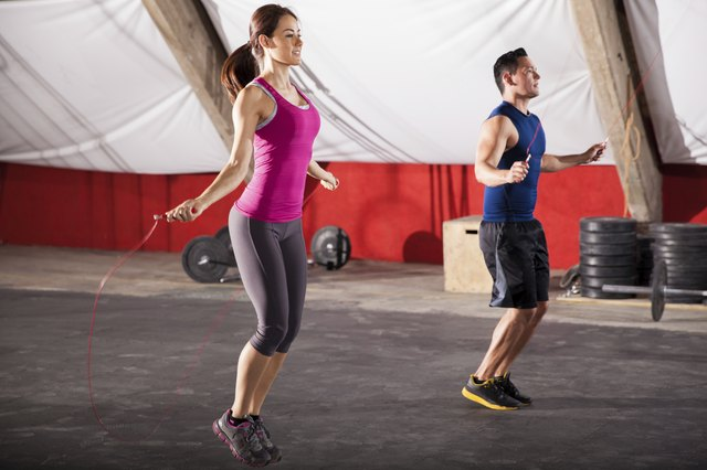 Jumping rope is a fun way to increase your heart rate and calorie burn.