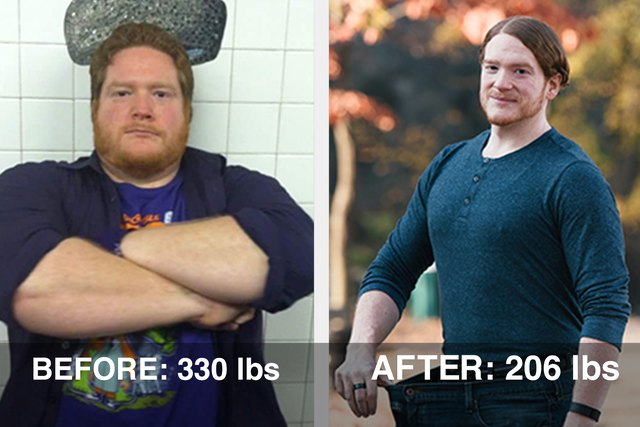 Matt lost 124 pounds and his pant size went from 44 to 35!