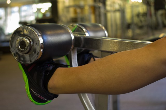 Your calves assist during leg extensions.