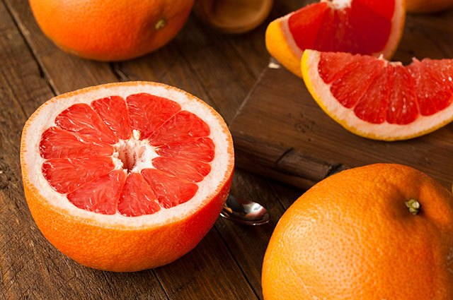 Red grapefruits are packed with vitamin C.