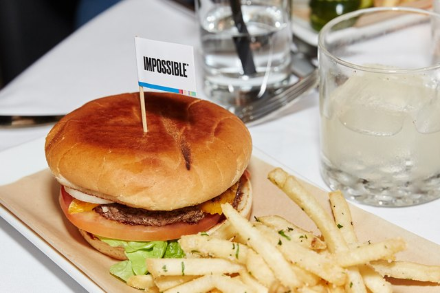 The Impossible Burger, as served at Crossroads Kitchen in Los Angeles.