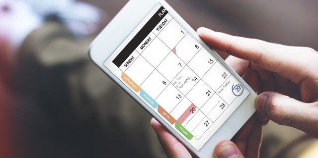 Using a calendar can help you plan.