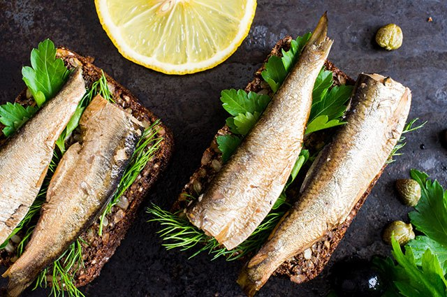 Phosphorus in sardines helps build bone strength.
