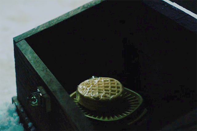 The stash of waffles left for Eleven by Police Chief Jim Hopper.
