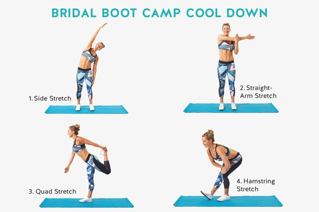 The first four stretches in your cooldown series.
