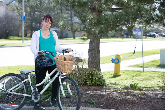 Mindy keeps fit by staying active and riding her bike to work whenever possible.