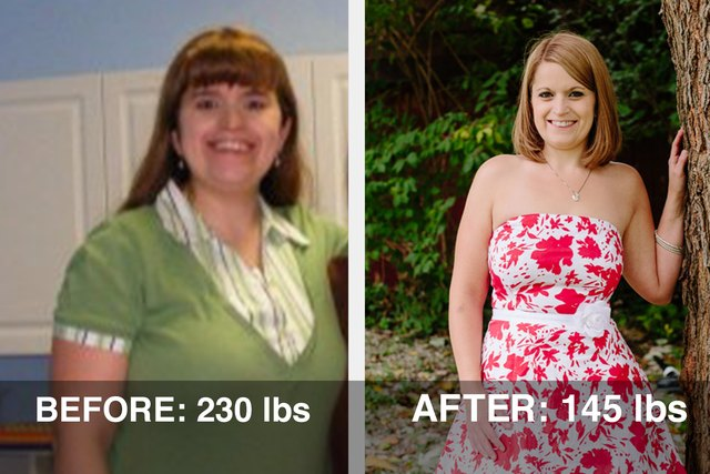 Amanda lost 85 pounds and dropped 7 sizes!