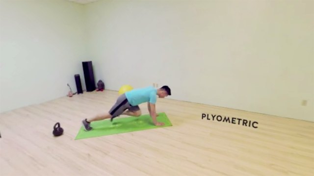 The plyometric is your standard mountain climber.