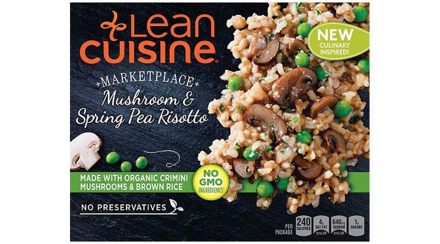 Lean Cuisine Mushroom & Spring Pea Risotto is an organic and non-GMO option.