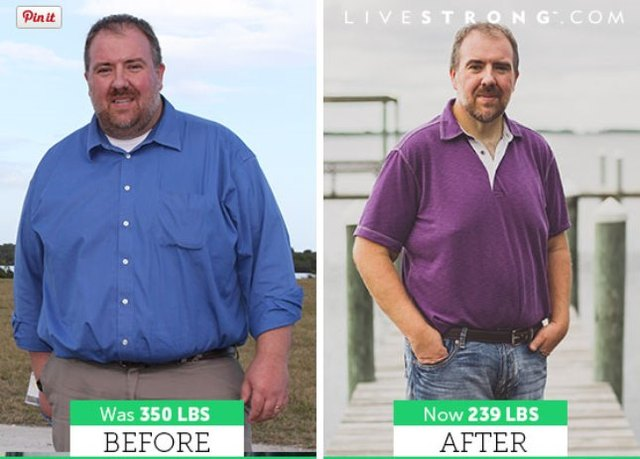 Aaron lost 96 pounds and dropped five pant sizes!