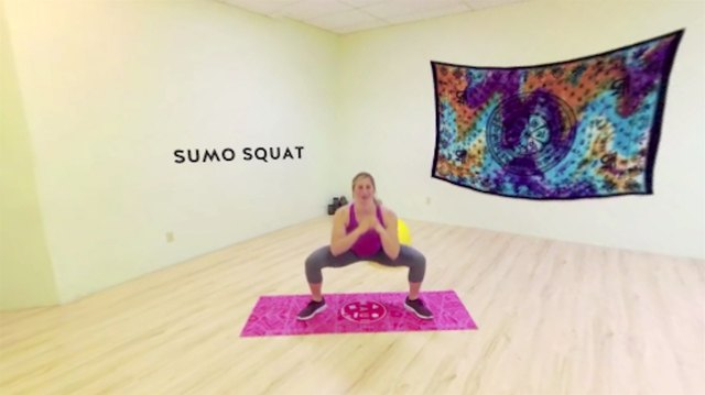 Sumo squats emphasize your inner-thigh adductors and glutes.